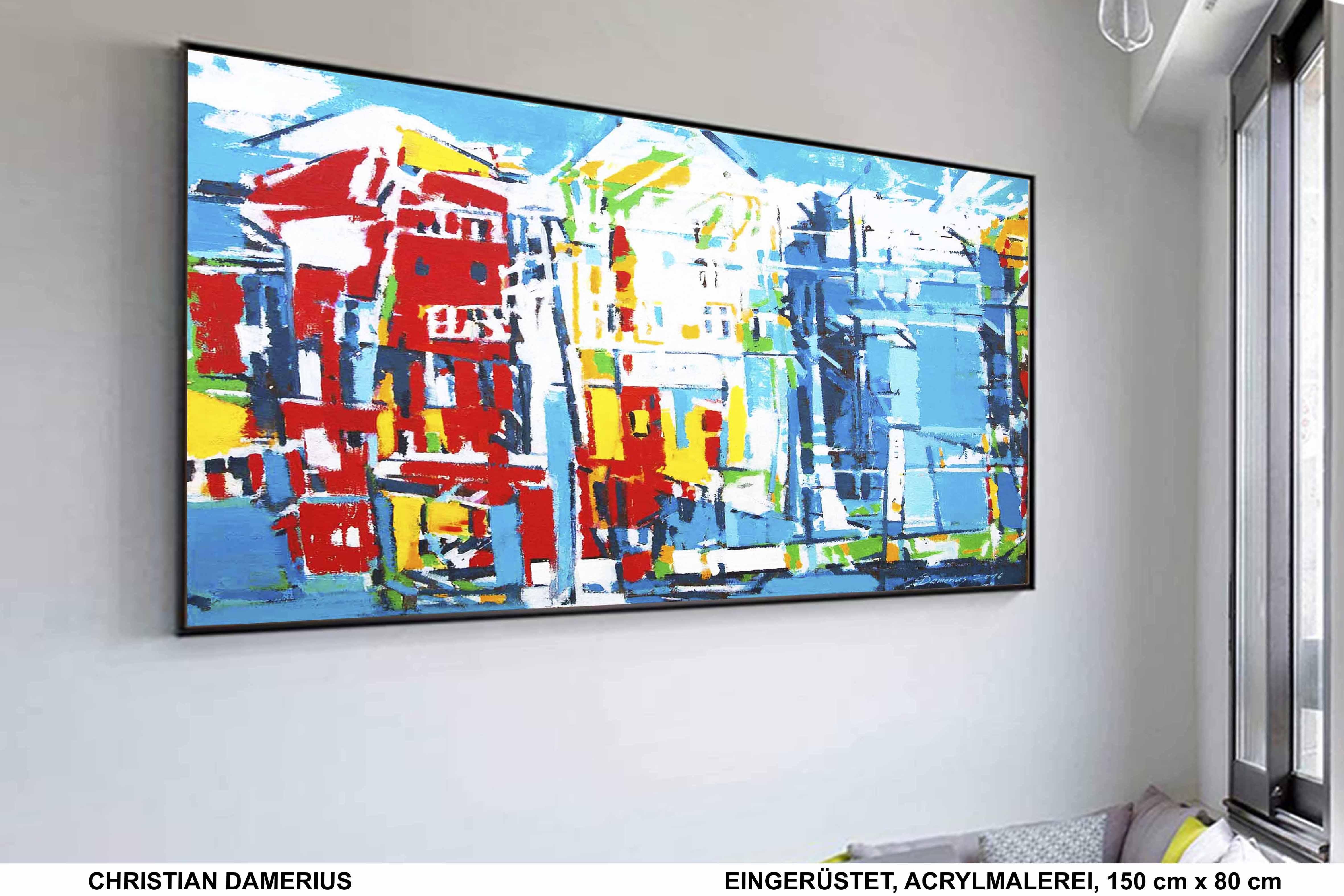 eingerüstet,christian damerius,bau,baustelle,hausbau,fassade,reparatur,baugerüst,renovierung,bilder,gemälde,kunstdrucke,originalmalerei,moderne deutsche malerei,maler,bekannte moderne deutsche künstler,maler,