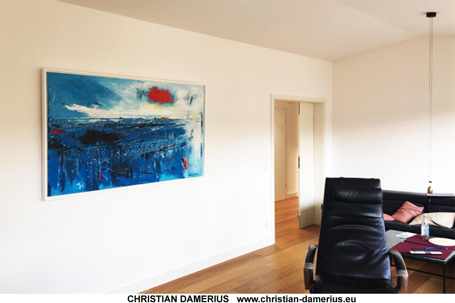 rot fällt herab,moderne landschaft,abstrakte malerei,christian damerius,rot fällt herab,ideen mit bildern für wände,büroeinrichter hamburg,wer malt moderne bilder,